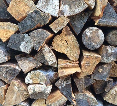 Stacked cordwood
